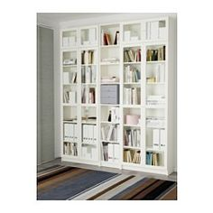 From a single bookcase to a wall-to-wall library, the IKEA BILLY bookcase system has it covered. It comes in different heights, widths and finishes, with adjustable shelves to suit all sizes of books, (Top Design Ikea Hacks) Ikea Billy Bookcase, Bookshelves, Bookcase White, Bookshelf Wall, Deco Design, Design Case, Home Office, Billy Oxberg, Home Theaters