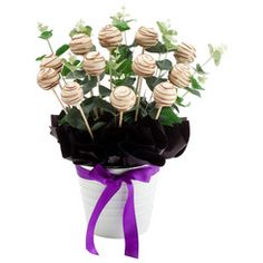 The wedding will be complete with the $85 Orange Cake Pop Bloom (12) and your congratulations