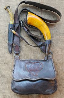 Contemporary Makers: Hunting Pouch and Powder Horn Set by David Brennan for Barbara Marshall