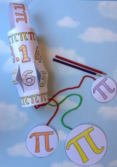 A Pi Day craft--- make a cylinder wind sock