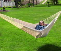 XXL Mayan Hammock Comfortable Durable Outdoor Thick Cord Natural Color Warranty #hammock