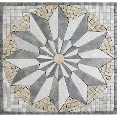 M. S. International Inc. Venti Blend Medallion 12 in. x 12 in. Tumbled Marble Floor & Wall Tile