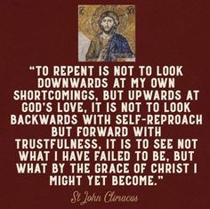 Repentance is the fruit of humility and love for God . Catholic Quotes, Catholic Prayers, Religious Quotes, Spiritual Quotes, Catholic Saints, Catholic Theology, Orthodox Prayers, Roman Catholic, Repentance Quotes