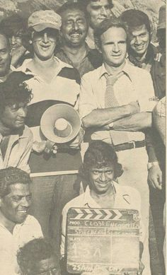 Steven Spielberg on location in India with François Truffaut. http://cinephilearchive.tumblr.com/post/46758999955/read-the-screenplay-of-close-encounters-of-the
