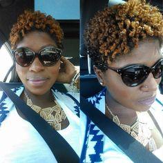 Natural hair. Twa. Color. Curls. Short natural hair.