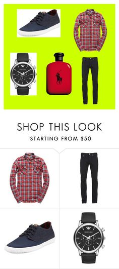 """Logan Thomas"" by bexie16 on Polyvore featuring Superdry, Paul Smith, Ben Sherman, Emporio Armani, Ralph Lauren, men's fashion and menswear"