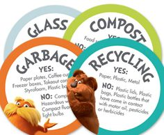 brought to you by HP, Lorax Printables, Recycling, Dr. Seuss LOVE THESE!