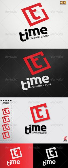 Letter T aka Timetype  - Logo Design Template Vector #logotype Download it here: http://graphicriver.net/item/letter-t-aka-time-logotype-template/3019333?s_rank=214?ref=nesto