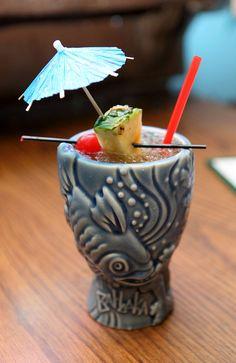 Mai Tai. Light Rum – Gold Rum – Dark Rum – Triple Sec - Lime – Orgeant Syrup (Almond)