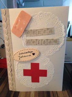 DIY Lähihoitajalle valmistujaiskortti :) Graduationcard for a practical nurse :)