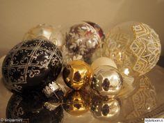 joulupallot, lasipallo, hopeatarjotin, kulta, kimalle