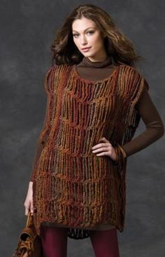 Jazz up your wardrobe with this fun crocheted tunic. It's fast to make with no shaping and the back and front are exactly the same. You'll want one in several colors.