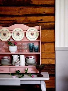 """This lovely tableware display is from our feature """"Floral Affair"""""""