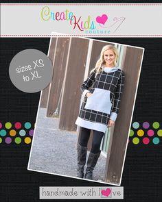 Create Kids Couture - Haven�s Women�s Hoodie Dress PDF Pattern, $5.60 (http://createkidscouture.com/havens_womens.html/)