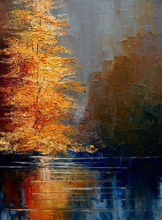 A fun image sharing community. Explore amazing art and photography and share your own visual inspiration! Abstract Landscape, Landscape Paintings, Watercolor Paintings, Abstract Canvas Art, Acrylic Art, Art Sur Toile, Autumn Painting, Tree Art, Art Drawings