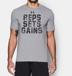 Men's UA Reps, Sets, Gains T-Shirt