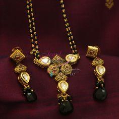 kundan jewellery online | ... Ruby Kundan Mangalsutra Indian Traditional Auspicious Jewellery Online