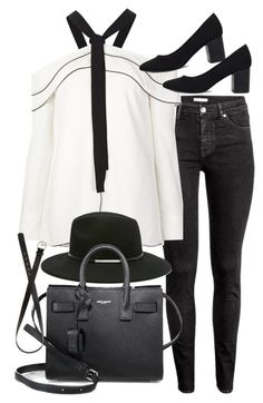 """""""Untitled #20648"""" by florencia95 ❤ liked on Polyvore featuring H&M, Proenza Schouler, Miss KG, Forever 21 and Yves Saint Laurent"""