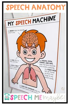 Speech anatomy poster to add to your speech room walls. Perfect functional decoration for your speech room! Teach the speech machine with these cute posters! Articulation Activities, Speech Therapy Activities, Language Activities, Toddler Activities, Receptive Language, Speech And Language, Cute Poster, Speech Room, Language Development