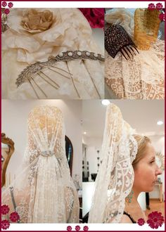 A back view of the mantilla