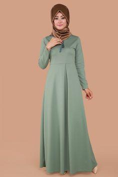 Dantel Detay Pileli Elbise Mint Ürün kodu: MDB3852 --> 79.90 TL