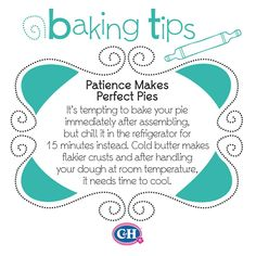 Patience Makes Perfect Pies👏 Baking Secrets, Baking Tips, Baking Hacks, Food Hacks, Food Tips, No Bake Pies, Pie Dessert, Useful Life Hacks, Cooking Recipes