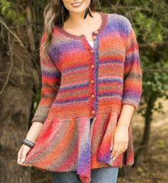 Knit the perfect autumn sweater with this fun knit cardigan pattern. Beautiful colors and a fun seed stitch texture combine to form a garment that will stand the test of time.