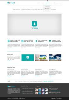 Enliquid - Responsive Template Design  by ~ICEwaveGfx  http://fav.me/d56h7hb