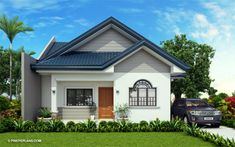 Obani - Elegant Yet Affordable One Storey Single Attached Simple Bungalow House Designs, Modern Small House Design, House Front Design, Roof Design, My House Plans, Bungalow House Plans, Cottage House Plans, One Storey House, Affordable House Plans