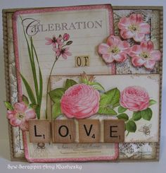 LOVE Card by Amy Kluchesky using Graphic 45 Botanical Tea.