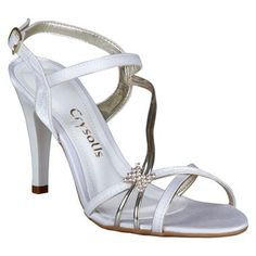 Sandália Crysalis Branca e champagne #Noivas #Casamento #Sapatos #Love #Shoes #Trends #Style #Fashion