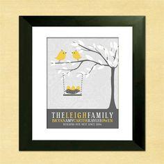 Personalized Family Tree  Love Bird Family  by InvitingMoments, $24.00