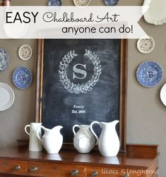 Love chalkboard art but you're not an artist?  Check out this super simple tutorial -- you can have fabulous chalkboard art  without stencils or art skills!