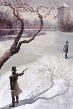 "Illustration from ""Eugene Onegin"" (Alexander Pushkin, illus. by Anna & Elena Balbusso)."