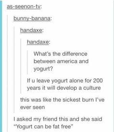 Tumblr on America (& yogurt)