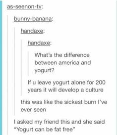Tumblr on America (& yogurt)