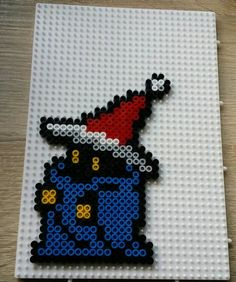 Final Fantasy Christmas Black Mage perler beads by Antina86