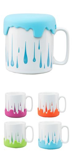 Paint drip mug - removable cap
