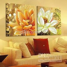 Wholesale Handicraft Abstract Feng Shui Painting :lotus Painting (no frame… Feng Shui Paintings, Lotus Painting, Lotus Art, Zen Art, Art Moderne, Art For Art Sake, Painting Lessons, Easy Paintings, Chinese Painting