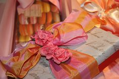 Orange and Fuschia Gift Wrap