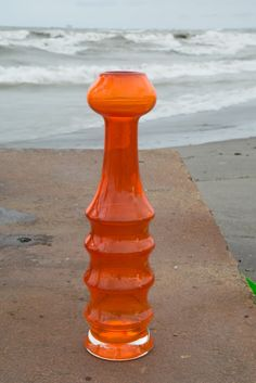 Pomarańczowy wazon K.Krawczyk, Żyrafka