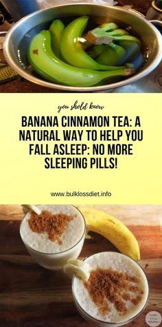 Banana Cinnamon Tea: A Natural Way To Help You Fall Asleep: No More Sleeping Pills! Health And Fitness Articles, Health Tips For Women, Health And Beauty Tips, Health Advice, Healthy Drinks, Healthy Tips, Diet Drinks, Healthy Beauty, Bar Drinks