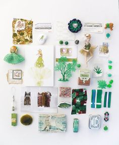 Mood board - greens