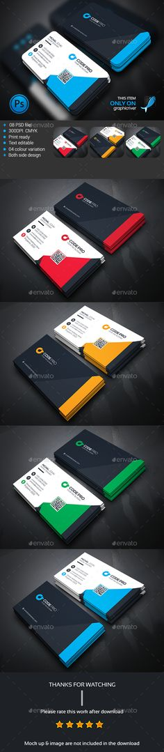 Modern Business Card Template PSD #design Download: http://graphicriver.net/item/modern-business-card/13668028?ref=ksioks