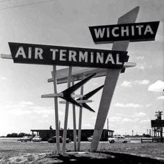 Wichita airport- old sign