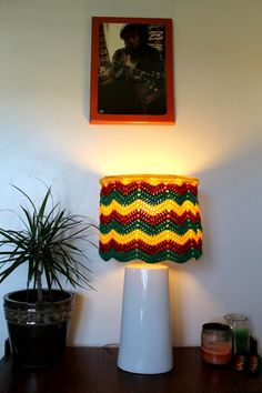 Rasta+Lampshade+Chevron+Crochet+Zig+Zags+by+AtmosphereLampShades,+$57.00
