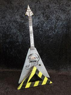 Scorpions Tribute - Farewall Flying Vee Guitar Art, Custom Guitars, Electric Guitars, My Favorite Things, Musica