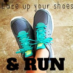 #Running motivation lace up your shoes and Run!!