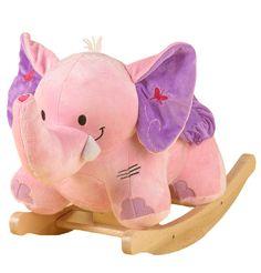 "Musical ""Bella The Elephant"" Toy Rocker by Baby Gifts-N-Treasures #Elephant #ToyRocker #FirstBirthdayGifts #RockingToy #BellaTheElephant #BabyGiftsNTreasures"