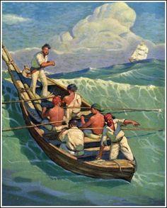 Moby Dick artwork by Mead Schaeffer